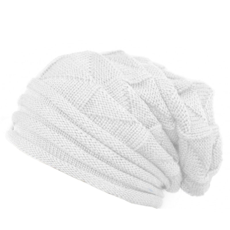 Men Women Knit Baggy Beanie Warm Winter Hat Ski Slouchy Chic Knitted Cap Skull winter casual cotton knit hats for women men baggy beanie hat crochet slouchy oversized ski cap warm skullies toucas gorros 448e