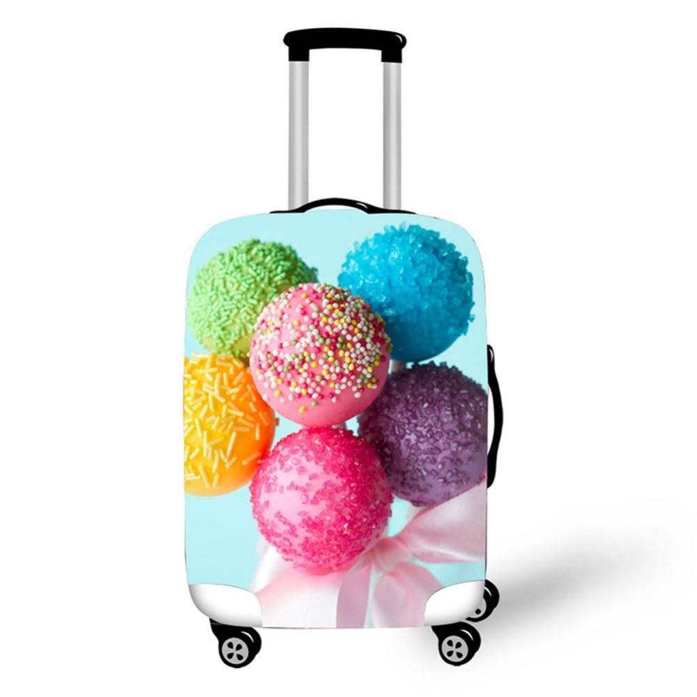 3D Cake mat mönster Skriv ut rese bagage resväska skyddshölje - Resetillbehör - Foto 4