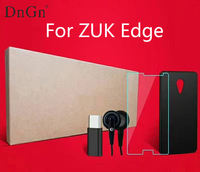 For ZUK Edge Frosted Shield Case 9H hardness tempered glass protective film type-c adapter with earphone free shipping