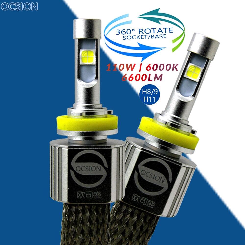 P70 H8 H9 H11 светодиодный 6000 К 55 Вт лампы XHP-70 <font><b>6600LM</b></font> туман лампочки авто лампы фары автомобиля лампа <font><b>H4</b></font> H7 HB3 HB4 9005