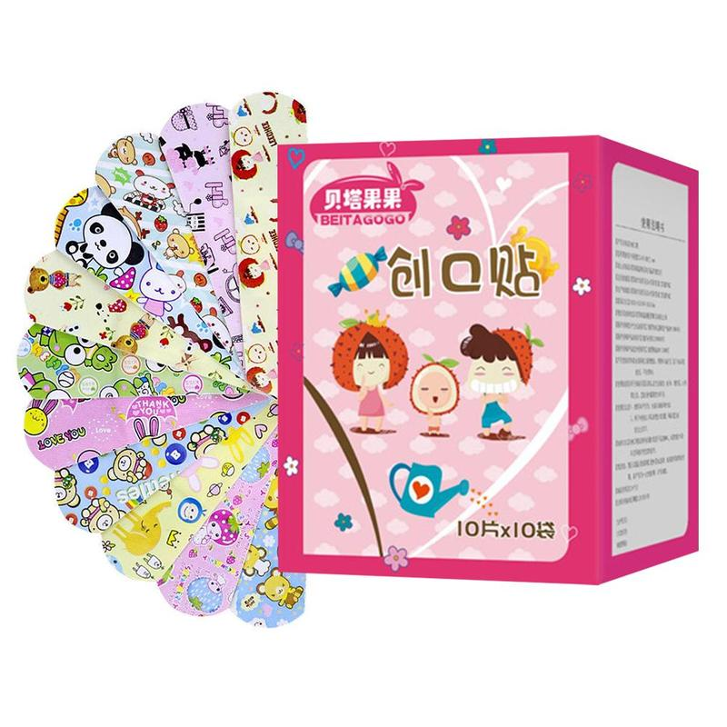 100Pcs Cartoon Band Aid Wound Dressings Waterproof Sterile Hemostasis Stickers First Aid Bandage Heel Cushion Adhesive Plaster100Pcs Cartoon Band Aid Wound Dressings Waterproof Sterile Hemostasis Stickers First Aid Bandage Heel Cushion Adhesive Plaster