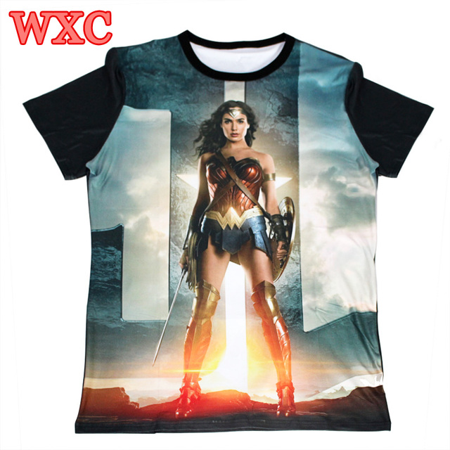 c27ce53627455 US $23.99  Summer T Shirt Wonder Woman Movie T shirts Diana 3D Printed Punk  Tees Unisex Short Sleeve Cool Tops Tee Femininas Camisetas WXC-in T-Shirts  ...