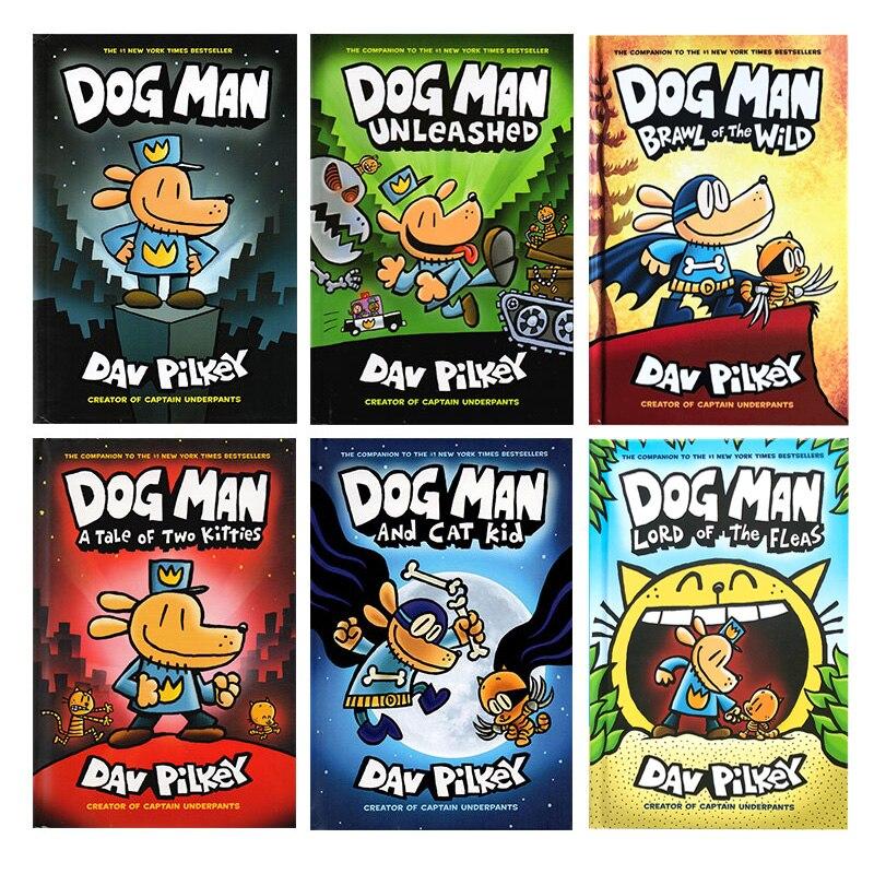 6 권 세트 개 남자 서사시 컬렉션 1 6 영어 어린이 재미있는 유머 소설 만화 만화 새로운의  그룹 1
