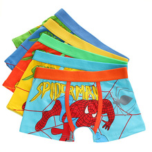 5 Pcs/lot 2019 Hot Style 95% Cotton Soft Panties Boys Boxer Underpants Children Spiderman Panty