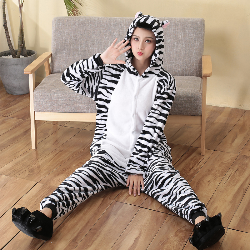 zebra adult pajamas for sleep