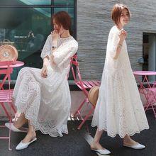 Летнее платье для беременных женщин из двух частей, костюмы размера плюс, открытое Хлопковое платье с подкладом на бретельках, Одежда для беременных, костюм-двойка белого цвета