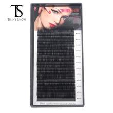 Thinkshow 8-15mm 12 Rows extensión de pestañas de seda hecha a mano profesional extensión de pestañas suave Eye 3D Rusia pestaña extensión de pestañas