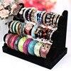 Hot 3 Tier Velvet Holder Stand Rack T Bar Watch Bracelet Jewelry Display Black Free