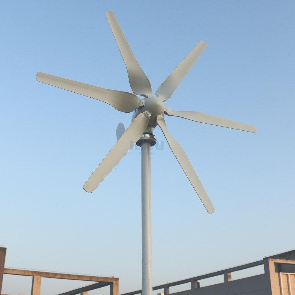 12v 24v turbina eólica com 6 lâminas