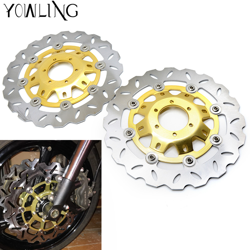 купить high quality 2 pieces motorcycle Parts Accessories Front Brake Discs Rotor For Honda CB400 VTEC400 1999-2010 CBR250 NC22 по цене 6664.43 рублей