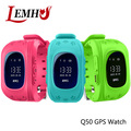 LEMHU Anti Lost Q50 OLED Child GPS Tracker SOS Smart Monitoring Positioning Phone Kids GPS Watch Compatible with IOS & Android