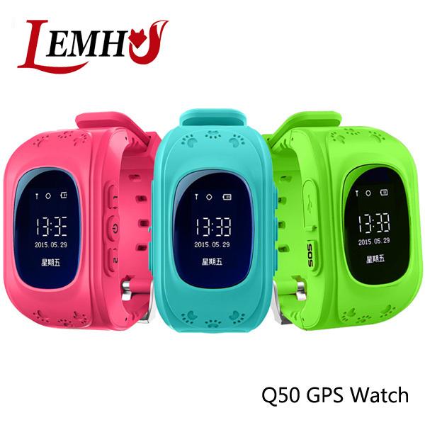 Q50 OLED LEMHU Anti Perdido Criança GPS Tracker SOS Inteligente Telefone Crianças GPS Relógio de monitoramento de Posicionamento Compatível com IOS & Android