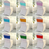 50pcs/set Spandex Bands Decorative Chair Sashes Accessory Banquet Seat Decoration Sashes for Party Wedding stoel versiering