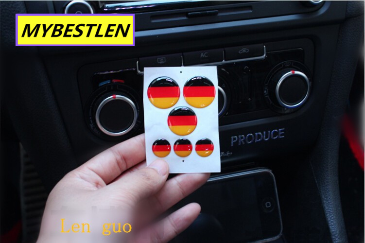 Image 2 - Excellent New button emblem car sticker case for VW Volkswagen golf 6 golf 7 VW polo CC accessories car styling-in Car Stickers from Automobiles & Motorcycles