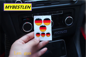 Image 2 - Excellent New button emblem car sticker case for VW Volkswagen golf 6 golf 7 VW polo CC accessories car styling