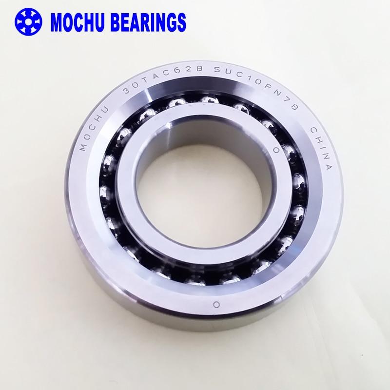 1pcs 30TAC62B 30 TAC 62B SUC10PN7B 30x62x15 MOCHU High Speed High Load Capacity Ball Screw Support Bearings 1pcs 71822 71822cd p4 7822 110x140x16 mochu thin walled miniature angular contact bearings speed spindle bearings cnc abec 7