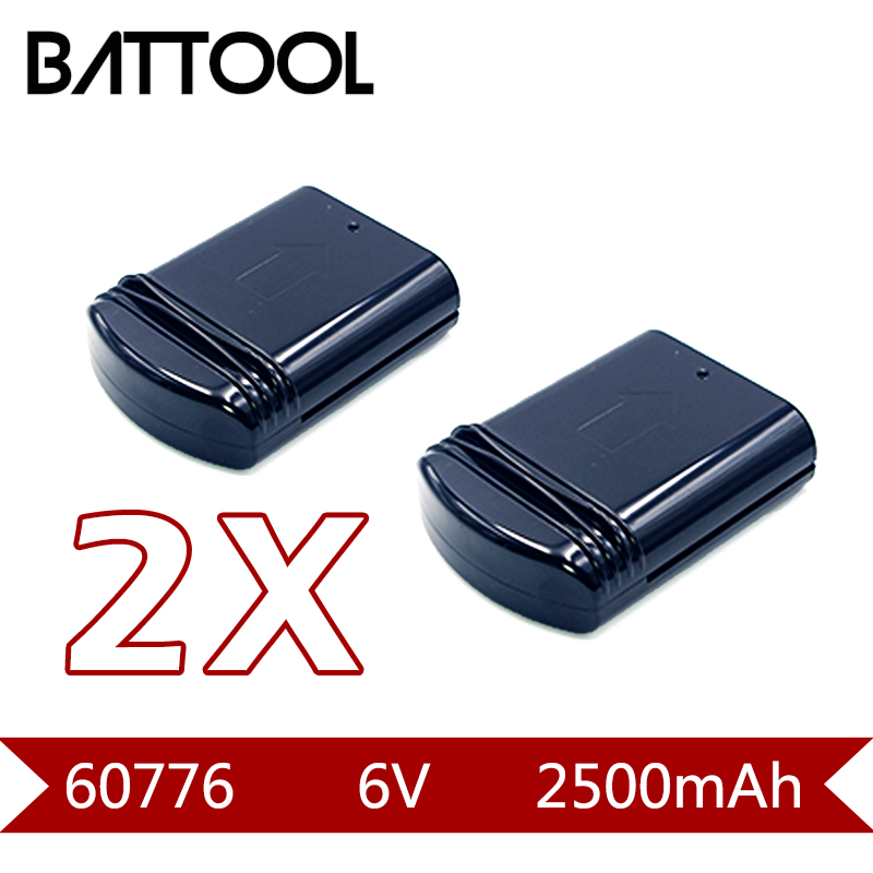 2X 2500mAh 6V Rechargeable Battery For Eureka 60776 39150 96 Series 96DZ 96JZ 96A 68112