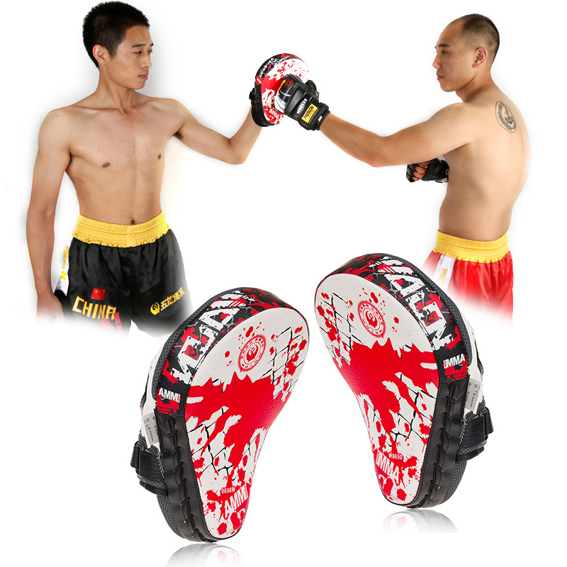 Kick Boxing Hand Target Gloves MMA Sanda Boxing Pads Martial Muay Thai Training Baffle PU Leather Hand Target Punching Bag