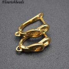 Не содержит никеля, анти-выцветание, двойные круглые металлические серьги, крючки, ювелирные изделия, 50 шт. в партии