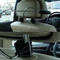 Vodool universal cabide de casaco carro aço inoxidável assento auto encosto cabeça roupas jaquetas ternos titular acessórios rack estilo do carro