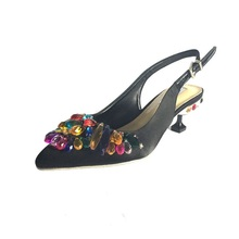 women high heel pumps 5cm shoes lady crystal sexy pointed toe string bead elastic band single