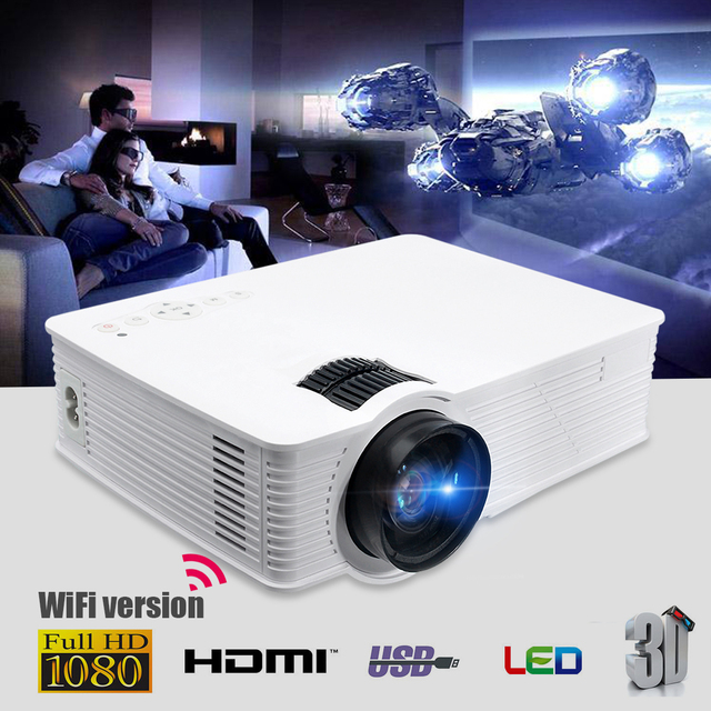 Best Price Thinyou GP-9 White Wifi version LED Projector 3000 Lumens 1080p Full HD Led Projector Digital Home Theater