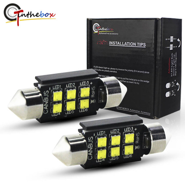 Gtinthebox C5W LED Canbus Bulbs 28mm 31mm 36mm 39mm 41mm Festoon Light with Auto Dome Lamp License Plate Car Interior Bulb 12v