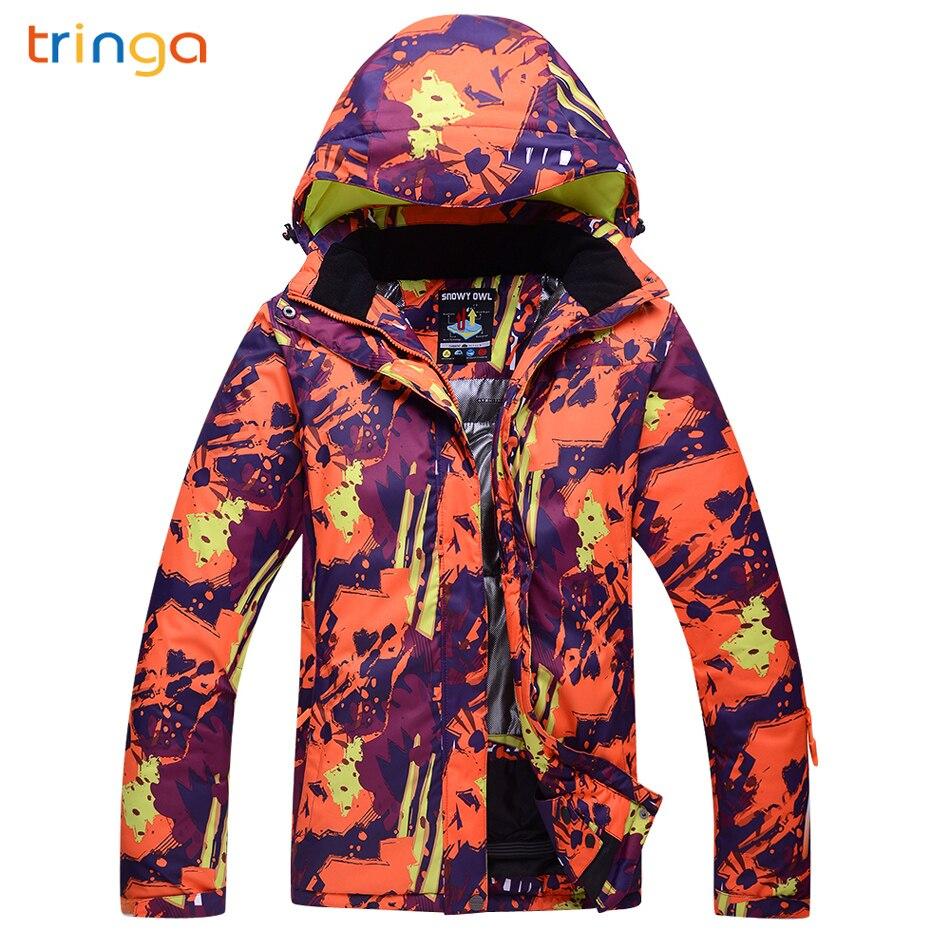 TRINGA Hot Ski costume femmes marques 2018 nouveau extérieur thermique imperméable coupe-vent respirant neige hiver Ski Snowboard vestes