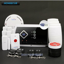 HOMSECUR Wireless GSM SMS Autodial  Burglar Intruder Pet-Immune/Friendly Alarm System+5*Door Sensor