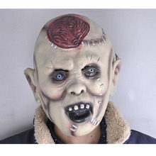 Hot 1pcs Cospaly Super Horror Mask Devil Lantou Burst Brain Halloween Scary Zombie Easter Cosplay Bloody Ghost Custume S854
