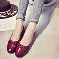 Корейский стиль Лук Обувь Женщины мягкие и удобные плоские туфли причинно-следственной обувь