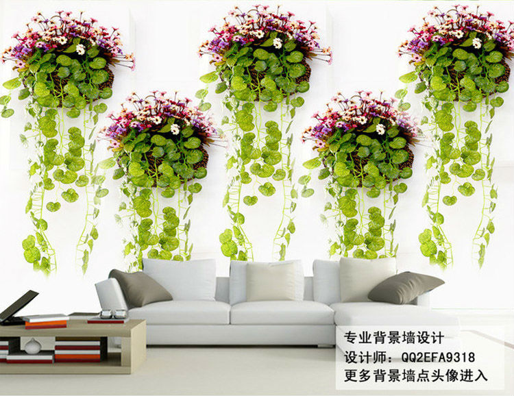 Natural scenery Photo Wallpaper green plants Wall Mural 3D Elegant  wallpaper Designer Art Room decor Bedroom Office Living room-in Wallpapers  from Home ...