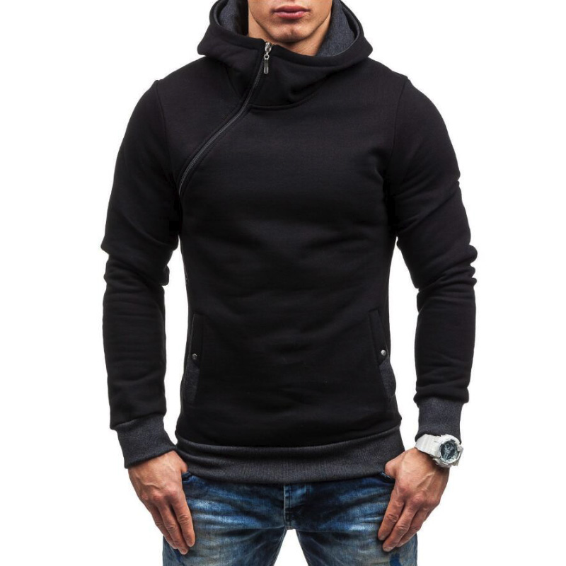 Tolvxhp Brand 2019 Hoodie Oblique Zipper Solid Color Hoodies Men Fashion Tracksuit Male Sweatshirt Hoody Mens Purpose Tour 3xl Hoodies & Sweatshirts