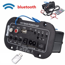 Big sale Multi-Functional Car Bluetooth Amplifier HiFi Bass Power AMP Stereo Digital Amplifier USB TF Remote For Car Home Accessories Hot