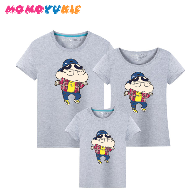 Family Sets T Shirt Cute Dad and Me Clothes Mother Kids Summ