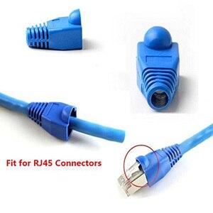 Горячая продажа 100 шт смешанных цветов CAT5E CAT6 RJ45 Ethernet сетевой кабель сброс напряжения сапоги Кабельный разъем крышка