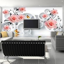 Mural Tv background 3D wallpaper non-woven three-dimensional seamless r