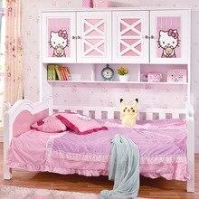 Детская спальная кровать с рисунком для девочек