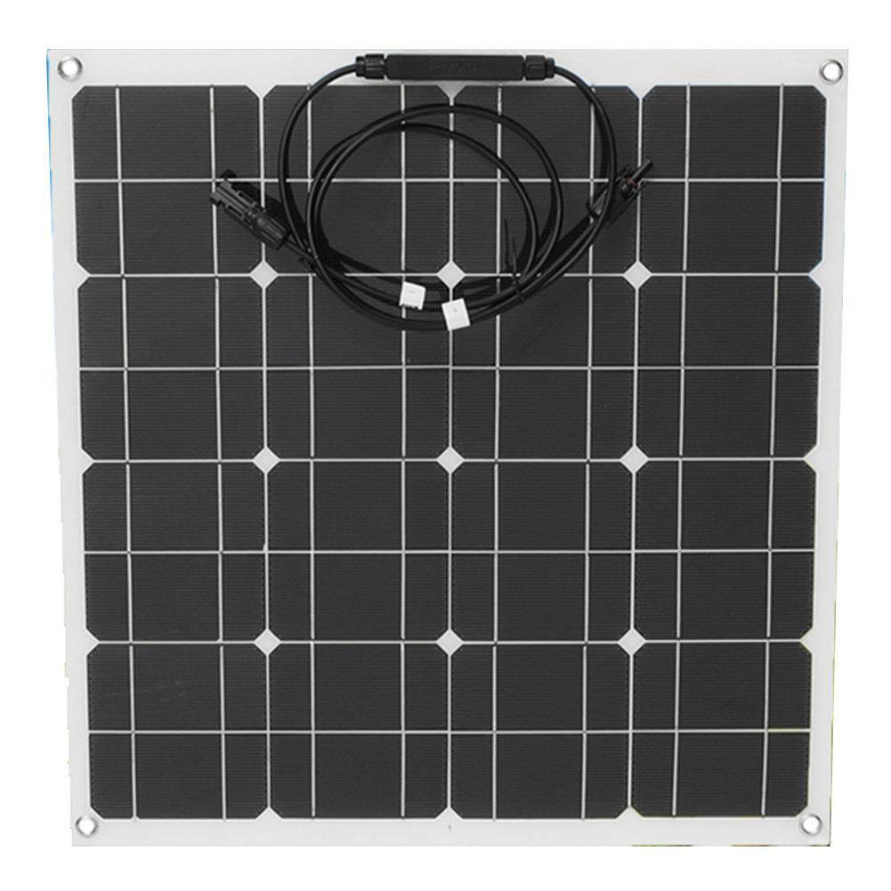 Cewaal Efficiency 12v 50w Solar Power Bank Sunpower Soft Semi Flexible warterproof Solar Power Panel Tool for car boat 100w 18v mono semi flexible solar panel with front junction box 22% high efficiency sunpower solar cell pv moudle for 12v system