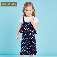 Balabala 2018 Summer Children S Clothes Set Toddler Fashion Cotton Tracksuit For Girl Clothing Children Enfant