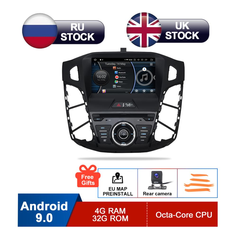 8 IPS Android 9 Car DVD For 2011 2012 2013 2014 Focus Auto Audio Video Radio FM RDS Stereo WiFi GPS Navigation Reverse Camera