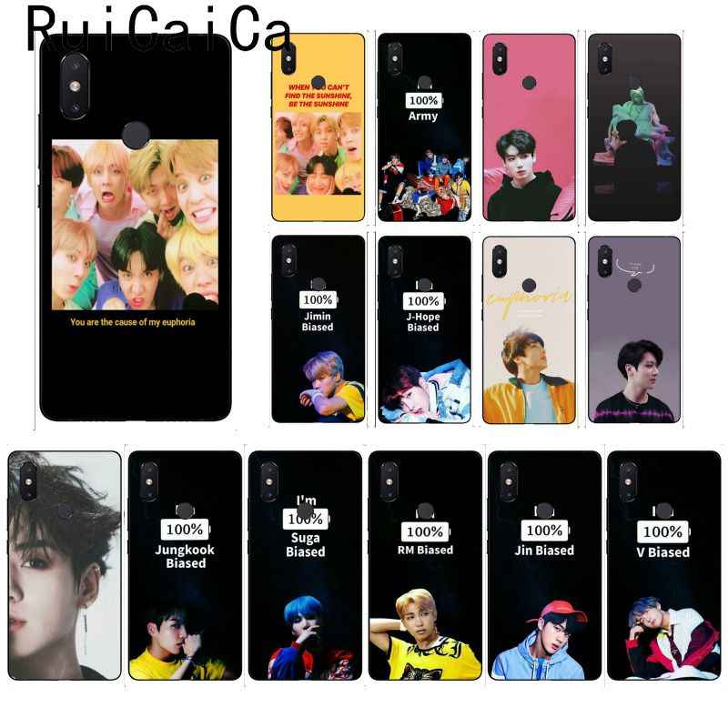 KPOP Ruicaica Euforia Jungkook moda Custom Caso de Telefone para Xiao mi mi mi mi x2 6 x2S Note3 8 8 lite Red mi 5 note5 Note4 4X