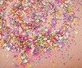 30 xMatte gramo/lote NEÓN Colores Mezclados y (Hexagonal + Corazón) Formas Brillo Resistente A los Disolventes para Uñas de Arte y Esmalte de uñas