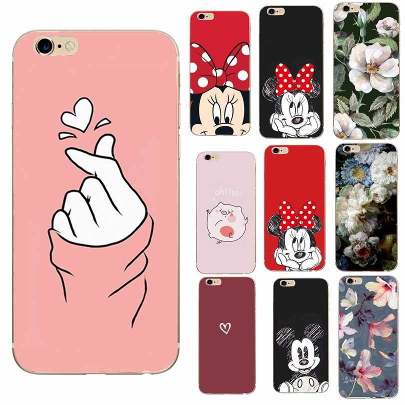 Funda para iphone 6s de capinha para iphone 7 8 plus 5 5S 6 s funda de lujo de dibujos animados para iphone x xs x max xr funda capas