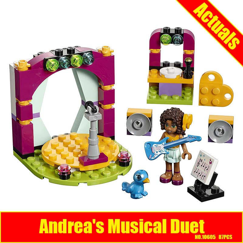 BELA 10605 Friends Series Andreas Musical Duet Building Block 87Pcs DIY Educational Construction Assemble Toys For Children
