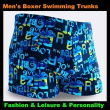 Top Men & Children Letter Pattern Boxer Trunks Swimwear Fashion Board Shorts Boy's Beach Hot Springs,Big Yards(China)