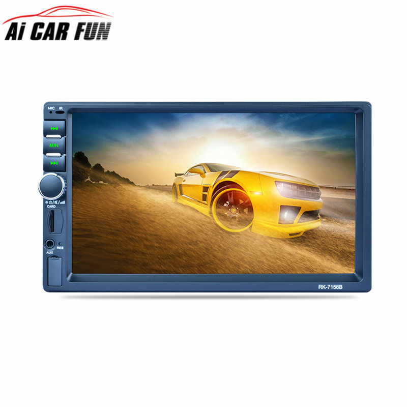 RK-7156B 2Din 7inch Bluetooth Car MP5 Car Radio FM/AM/RDS Radio Fast Charge with Rear View Camera Function Car Multimedia Player rk 7157b 7inch 2din car mp5 rear view camera fm am rds radio tuner bluetooth media player steering wheel control