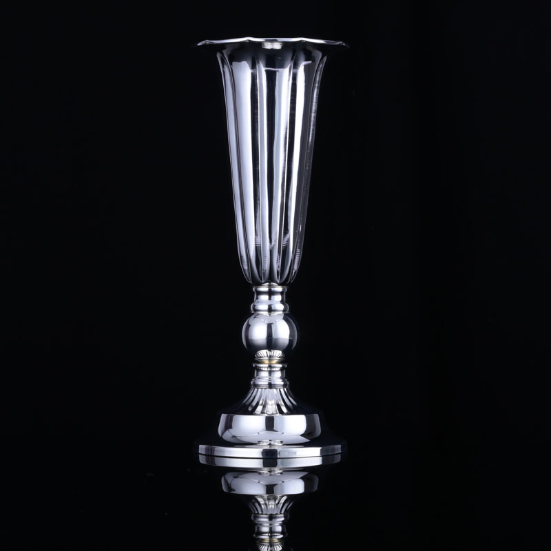 6pcs Vase Silver Plated Vintage Classic Quality Metal Dining Table Home Decoration Wedding Supplies