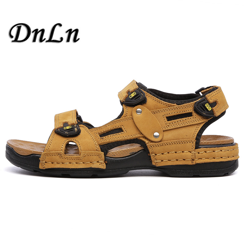 New Fashion Summer Leisure Beach Men Shoes High Quality Leather Sandals D50
