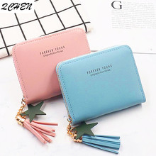 Women wallet Leather Small Luxury Brand Famous Mini Women Wallets Purses Female Short Coin Zipper Purse Credit Card Holder 210